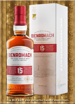 Benromach 15 Jahre Speyside Single Malt Scotch Whisky